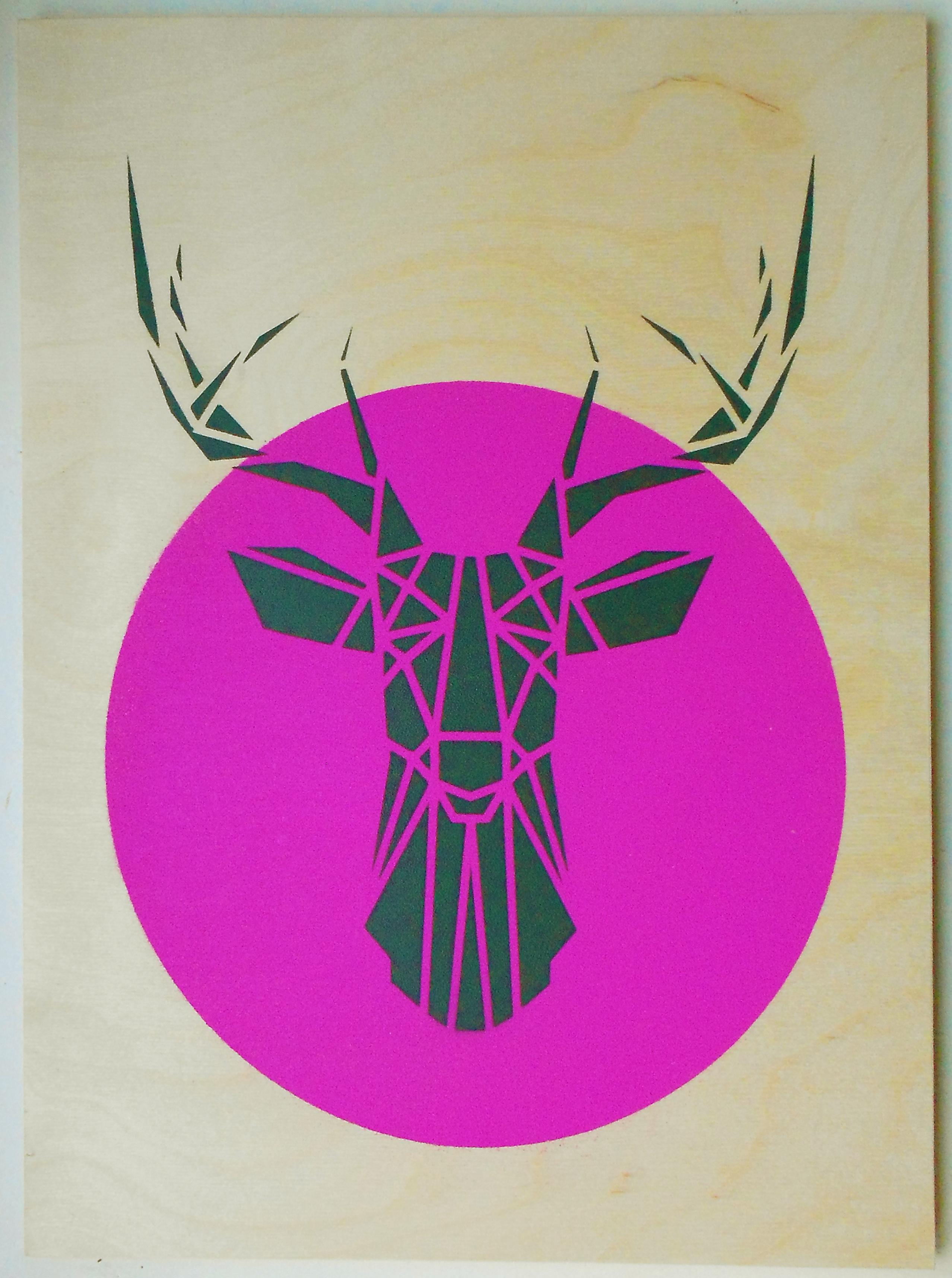 deer head logo pink - photo #16