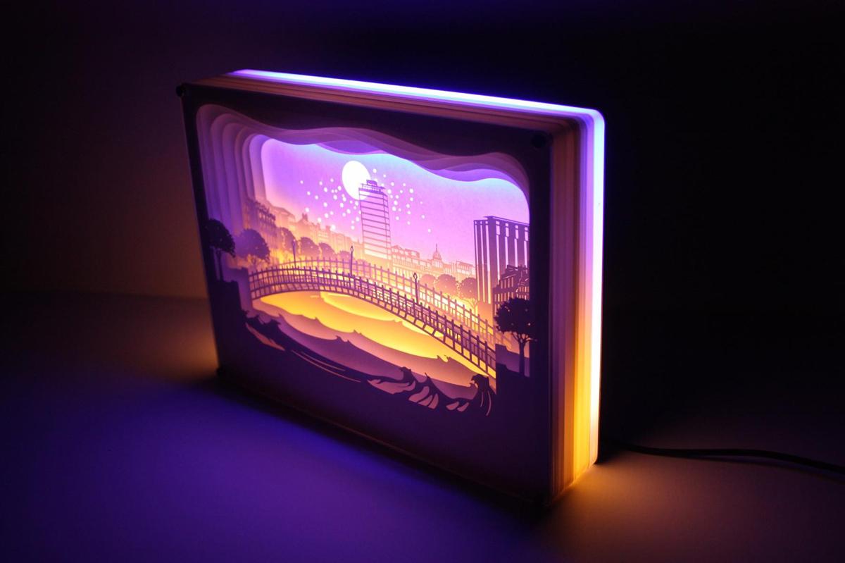 Dublin Layered Paper Light Box Jam Art Factory Irish